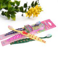 厂家直销韩国2p卡通毛毛虫软毛牙刷韩版两支装儿童纳米牙刷批发