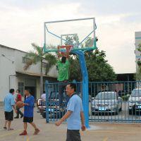 广州柏克厂家直销室外篮球场标准 户外篮球场照明灯具 热镀锌灯杆高度均可定做