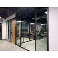 承接湖北防火玻璃隔断墙 铝合金玻璃隔断 中空百叶高隔间 雾化玻璃隔断 卫生间隔断墙