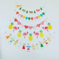 儿童生日纸质卡通拉旗  节日 生日派对吊旗 定制聚会布置横条