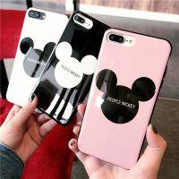 可爱卡通iphone6S手机壳米奇头苹果7光面烤瓷软胶8plus手机情侣壳