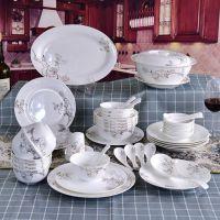 达美瓷业批发骨质瓷餐具 家用碗盘碟套装定制
