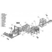 彩砖码砖机砖厂转型升级 码砖机现场看效果