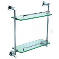 AZOS卫浴挂件 AG1810双层置物架 玻璃置物架 五金挂件 浴室挂件