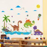 儿童恐龙墙贴壁纸墙纸自粘贴画卡通房间卧室温馨幼儿园装饰品贴纸