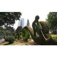成都真植物雕塑 佛甲草绿雕价格 五色草针织物绿雕