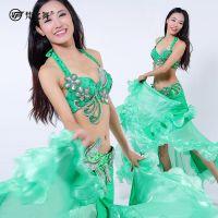 梵之舞肚皮舞高级套装新款文胸腰封表演服印度舞花朵肚皮舞套装