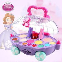 迪士尼儿童化妆品公主彩妆盒套装女童化妆盒车无毒女孩舞台妆玩具