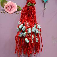 陶瓷猫手链 红绳手链  1元店精品饰品 畅销爆款地摊货源可做赠品