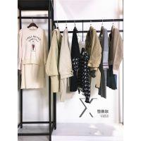 深圳品牌折扣女装古诺尔春装大衣十三行批发市场