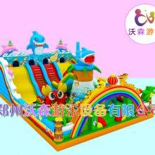 加厚PVC材质儿童充气滑梯定做,安徽芜湖本地厂家价格合理