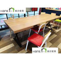 上海KFC-09肯德基餐厅桌子椅子厂家 餐厅桌椅定制 韩尔品牌