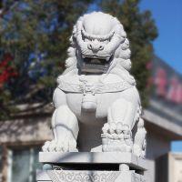 大理石石雕狮子大型北京狮花岗岩石雕狮子