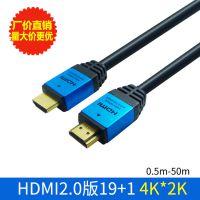 HDMI高清线2.0版1.5米铝壳4K*2K工程级19+1电脑电视机顶盒连接线