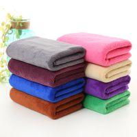 300克超细纤维加厚磨毛吸水擦车巾洗车巾美容美发30*70毛巾赠品