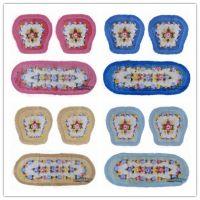汽车座垫四季通用防滑 花色坐垫 椅子沙发垫 冬季 紫薇公主小三件