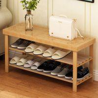 竹子实木高低换鞋凳式储物超窄鞋架简约门厅进门矮鞋柜长条长方形