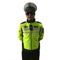 交通警察路政执法反光夹克款拉链反光条修身执勤服反光衣
