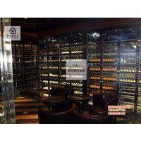 佛山厂家直销不锈钢玫瑰金酒架 恒温红酒柜 欧式酒架加工定制