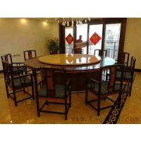 酒店餐厅专用电动餐桌 电动火锅桌 火锅桌 大型餐桌椅供应