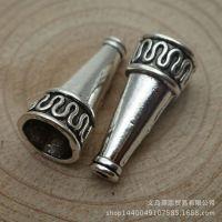 合金饰品配件 22*10mm 喇叭形 小孔花筒 速卖通货源 10039