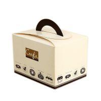 西点手提折叠盒甜品包装蛋糕打包盒烘焙纸盒广东东莞厂家一手订制