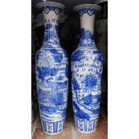 供应1.8米青花陶瓷花瓶 景德镇陶瓷厂家 鑫腾陶瓷