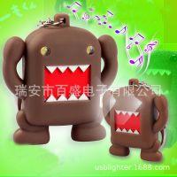 BS-051日本人气动漫多摩君(Domo-Kun) 发光发声钥匙扣可爱饰品