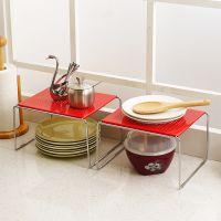 厨房橱柜内碗架欧式置物架调味架小 桌上简易碗碟收纳架单层2只装