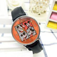 米奇米尼儿童卡通手表男孩女孩夜光皮革手腕表