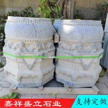 加工各种石雕柱础柱墩 仿古青石柱顶石低价促销古建筑石墩子