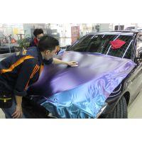 深圳改色贴膜宝马新5系G38全车改色紫魅蓝,勺子大灯