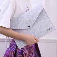 韩版平板电脑袋创意文艺范拉链文件袋简约办公A4资料袋学生试卷袋