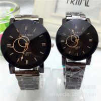 新款韩版复古创意的钢带潮流时尚个性款学生情侣男女运动石英手表