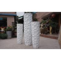 现代简约水泥色花钵鹅卵石状玻璃钢落地大花盆售楼部开业装饰花器