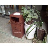 顶部可放石头的垃圾桶 钢板垃圾桶 古铜色室内果皮箱 售楼部垃圾箱