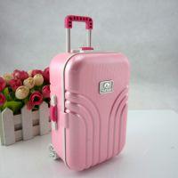 创意拉杆箱行李箱音乐首饰盒 行李箱糖果色八音珠宝盒 生日礼物