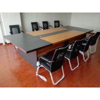 合肥定做办公桌会议桌 板式简约会议培训桌 油漆款式开会桌