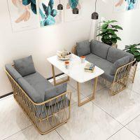 餐厅简约卡座沙发英标防火证书甜品奶茶店桌椅组合