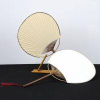 厂家直销中国风宫扇 日式古风宣纸空白扇面仿紫竹团扇定做批发