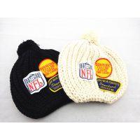 韩版秋冬保暖字母帽儿童针织毛线帽 时尚母子帽 儿童帽子 亲子帽