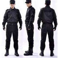 黑色春秋作训服 保安服物业