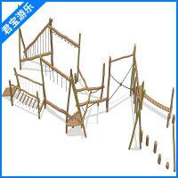 户外儿童游乐原木拓展感统训练幼儿园组合多功能攀爬
