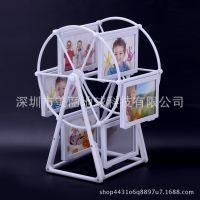 婚纱照九宫格创意定制照片风车相框摆台相册结婚纪念摆件拾光宝盒