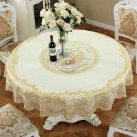 PVC圆桌布防水防油防烫免洗塑料家用台布客厅酒店圆形茶几餐桌垫