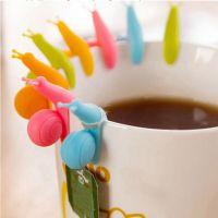 生活用品创意家居糖果色夹子卡通派对蜗牛茶包挂 6枚装silicone