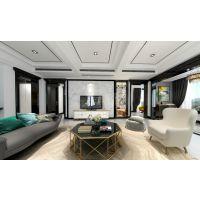 紫檀庄园装修|力帆红星国际广场别墅设计|现代轻奢风格