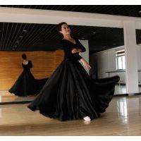 新疆大摆裙女维族藏族维五吾儿尔族舞蹈练习裙半身裙演出服