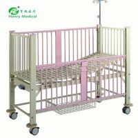 HR-732 厂家热销优质医院病床 手动单摇儿童护理床 儿科床