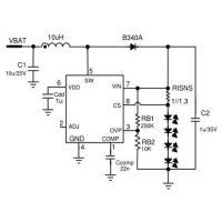 供应嘉泰姆CXLE8859驱动IC 2.5V~30V输入7W能力电流检测升压白光LED恒流芯片